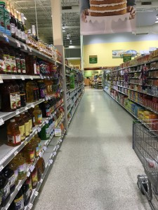 Grocery aisles are filled with tons of items. This is why it's important to focus on what you need while shopping so there are no distractions. (Photo by Alyssa Fort)