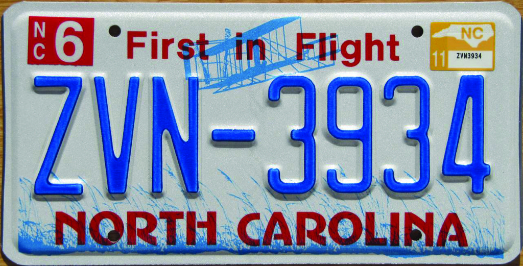 Taking Off on the North Carolina License Plate